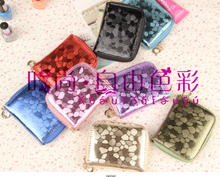 The new fashion sequins brief paragraph small hand bag zipper bag zero wallet screens card package wallet more female bag