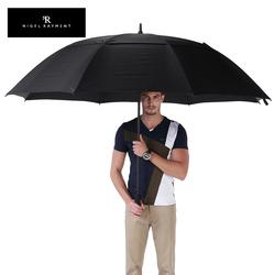 NR自动商务伞广告伞加固双层抗风户外超大雨伞男士长柄双人伞