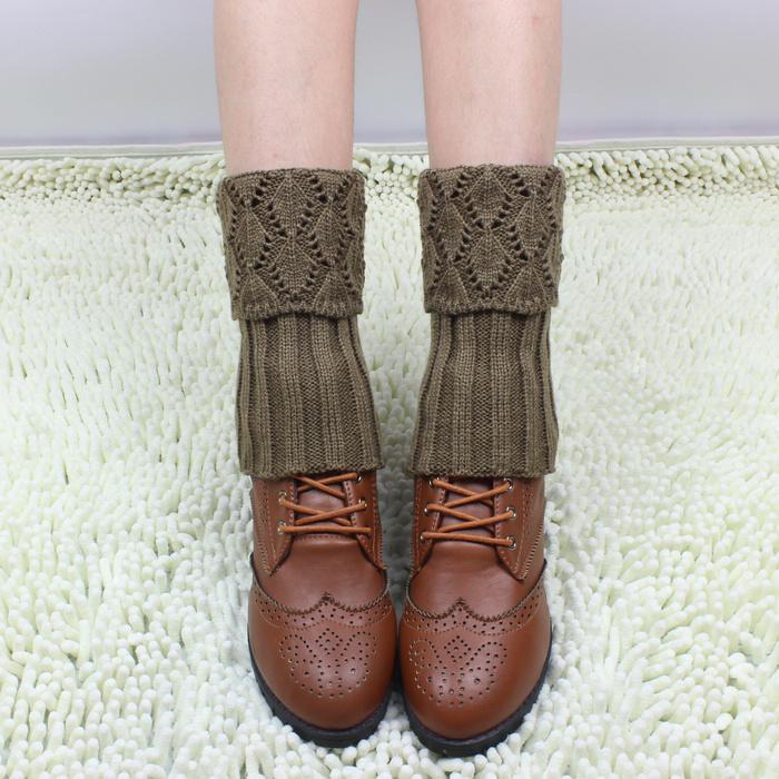 Осень/зима вязание детям шерстяные короткие гетры гетры Корея короткие носки потерять кучу обувь носить обувь ноги