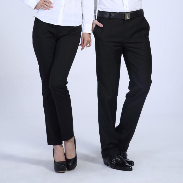Mens and womens trousers, professional trousers, office pants, mens fine vertical grain trousers, black straight tube business suit pants, package mail