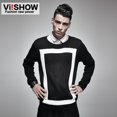 Viishow2015 men's thicker stitching slim fit long sleeve Turtleneck Sweater men sweater men fall and winter null