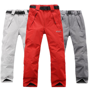 The new snowboarding pants climbing pants male and female models super warm windproof ski pants Trousers couple strap