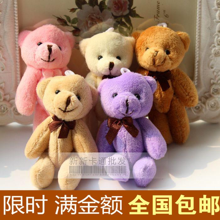 Совместное 8 см галстук медведь плюшевый медведь Кулон мультфильм Букет конфет кукла кукла пакет специальное предложение
