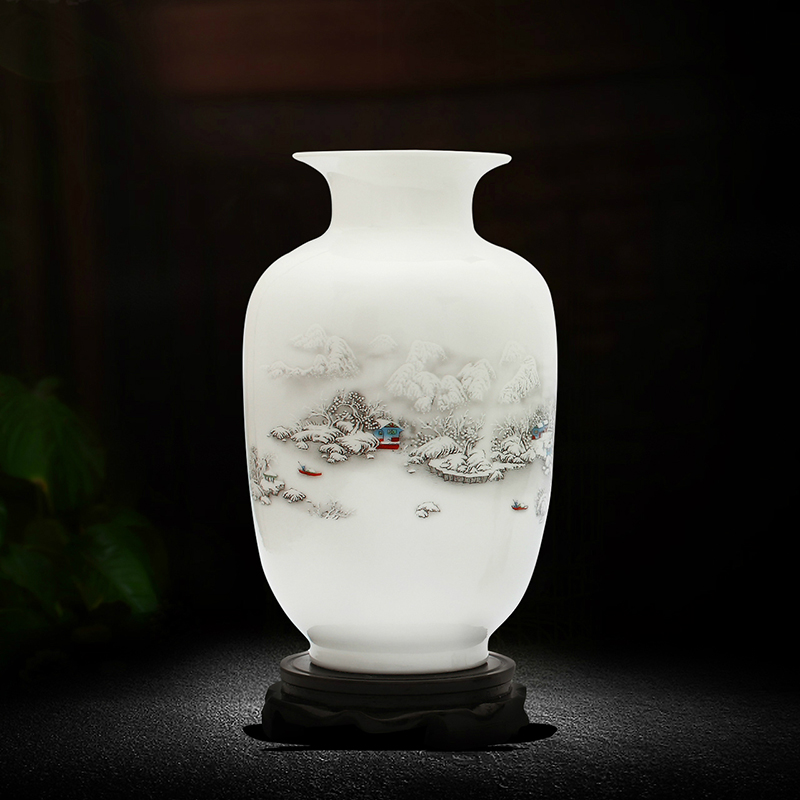 包郵景德鎮陶瓷器花瓶 家居飾品擺件插花器客廳裝飾工藝品aj137