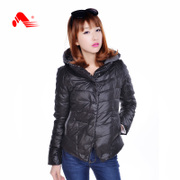 Kang step new 2015 winter down jacket female Korean women's fashion, warm cotton cropped Hoodie