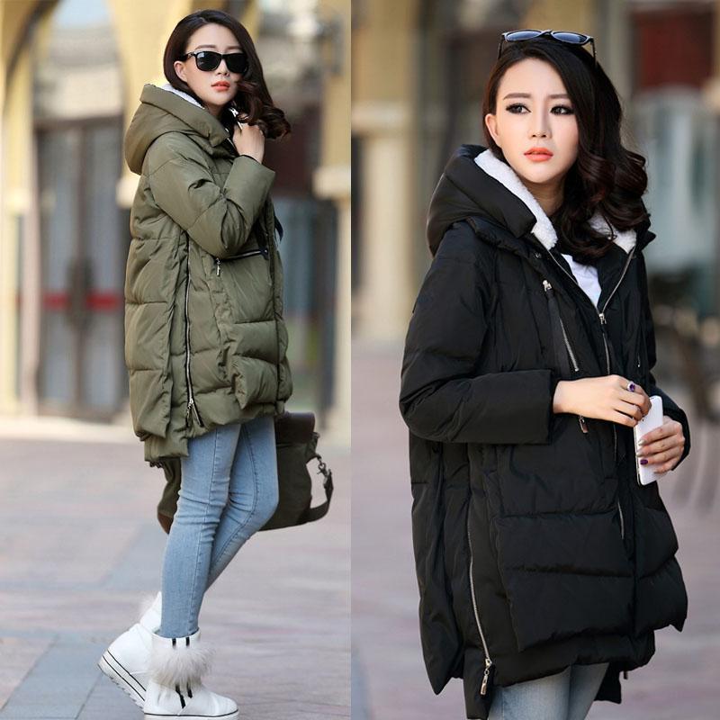 ( сезон уборки )2017 беременная женщина наряд зима ватник длина подбитый корейский свободный беременная женщина хлопок пальто