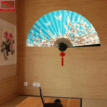 Mountain Yue Home teahouse tea single Japanese and wind tatami craft hanging fan large fan custom decorative pendant folding Fan