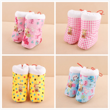 Baby new winter boots more 0 and 1 year old baby cotton boots Baby soft bottom heat preservation cotton shoes