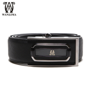 Wan Lima man automatic buckle belt belt genuine leather business Korean fashion trend of casual leather belt