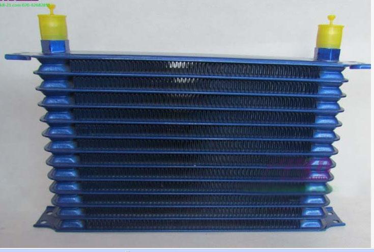 汽车改装美式油冷器散热器机冷却器7/10/13/15排接头AN10