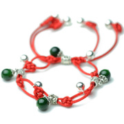 National wind bells anklet jewelry red rope feet female born in multi-layer beaded girls foot chain 2800243