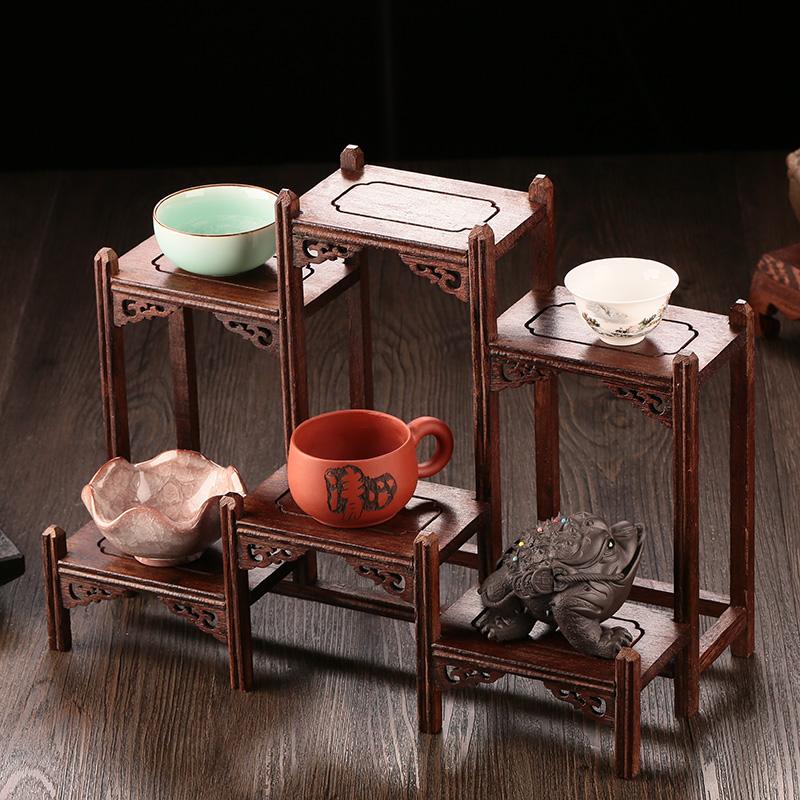 Дерево чашка полка чайная церемония чай пирог полка небольшой богатые древний полка чай кабинет хранение стеллажи генерал Er чайник чайный сервиз монтаж