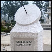 石雕日晷大理石汉白玉表校园雕塑书学校摆件赤道式日晷仪计时圆雕