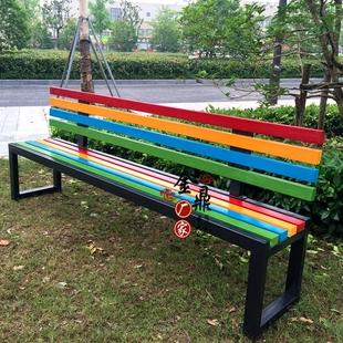 公園靠背椅長排椅長條椅長凳子休閒長椅户外休息椅室外廣場椅子