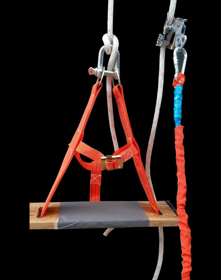 Высокий пустой сделать промышленность сидя на доске сиденье доска самоблокирующийся устройство U тип крюк спуск устройство безопасность веревка ремень безопасности противо осень падения установите