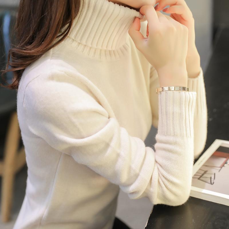 秋装新款高领套头毛衣女秋冬款2017韩版长袖百搭打底针织衫