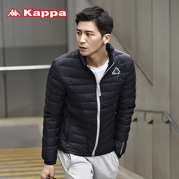Kappa Kappa sportswear men down jacket casual jacket collar short paragraph down jacket | K0552YY09