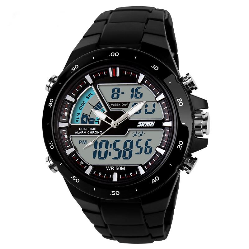 Аутентичные Мужские часы студент личности многофункциональный цифровой часы водонепроницаемый световой тенденции e5JYOl мужчины движения часы