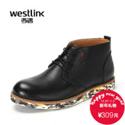 Westlink/2015 West end of the new Europe and the leather head strap Camo winter boots men's boots