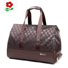 Counters authentic France montagut Both men and women leisure travel bag zipper pull rod bags brown bag
