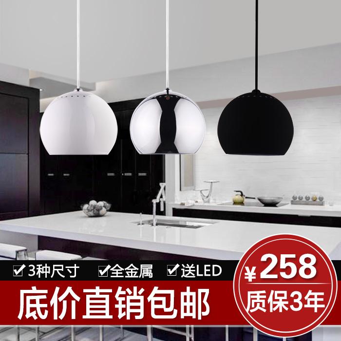 Креативный ресторан освещение люстра три простых Одноголовочная привели кулон лампа современная столовая освещения s