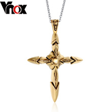 Domineering cross necklace men in Europe and the personality hang pendant necklace pendant titanium steel male aureate deserve to act the boys