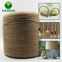 Hemp Thread fine rope DIY rope handmade woven rope Tag rope decorative rope Retro coarse rope bundled rope non-cotton rope