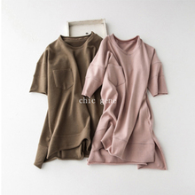 New package mailed five minutes long sleeve in South Korea orders loose comfortable show thin round collar cotton fleece