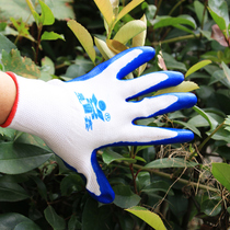 Horticultural Gloves Anti-thorn anti-stick garden gloves flower tools canvas dipping protective gloves a variety of options