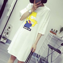Packages mailed the new summer 2015 short sleeve T-shirt loose nightgown han edition cartoon whimsy leisure leisurewear night gown