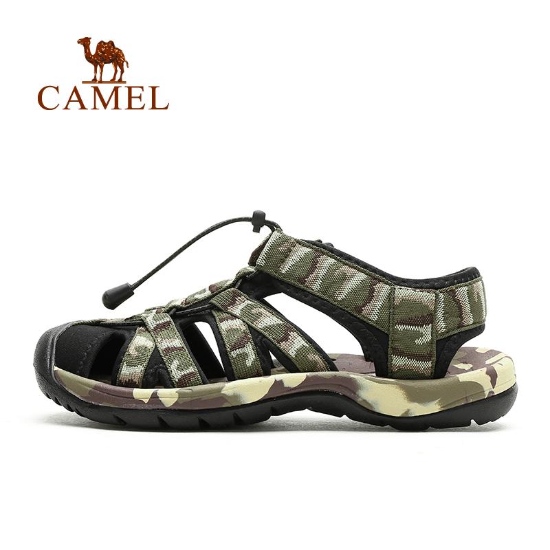 Toe сандалии 2015 быка ВЕРБЛЮД верблюда открытый мужской Камуфляж Одежда Обувь