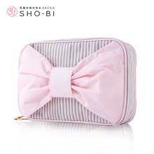 SHO - BI Japan design Lumikki organ cosmetic bag Lovely double zipper large capacity to receive bag lady