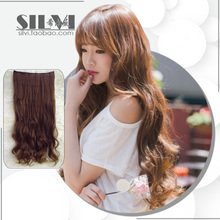 Matte upset not reflective of a chip big wave wig clip a hair piece can be very hot straight hair piece bag mail