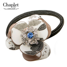 Chaplet Han Guofa circle, Japan and South Korea version of the popular beauty accessories diamond-encrusted hair rope crystal rubber band rope hair accessories