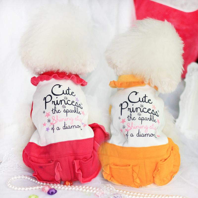 Petstyle 14DF52 кружевной воротник шипованных Комбинезоны Тедди собака тепле и комфорте четвероногие одежда оптом