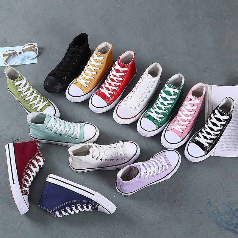 Womens new high top flat shoes in spring