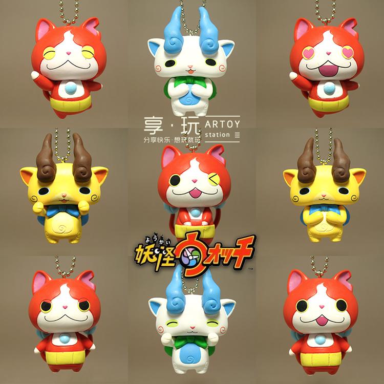 正版3DS 妖怪手表 怪物手表地缚猫拳师猫大号扭蛋 挂件挂饰散货