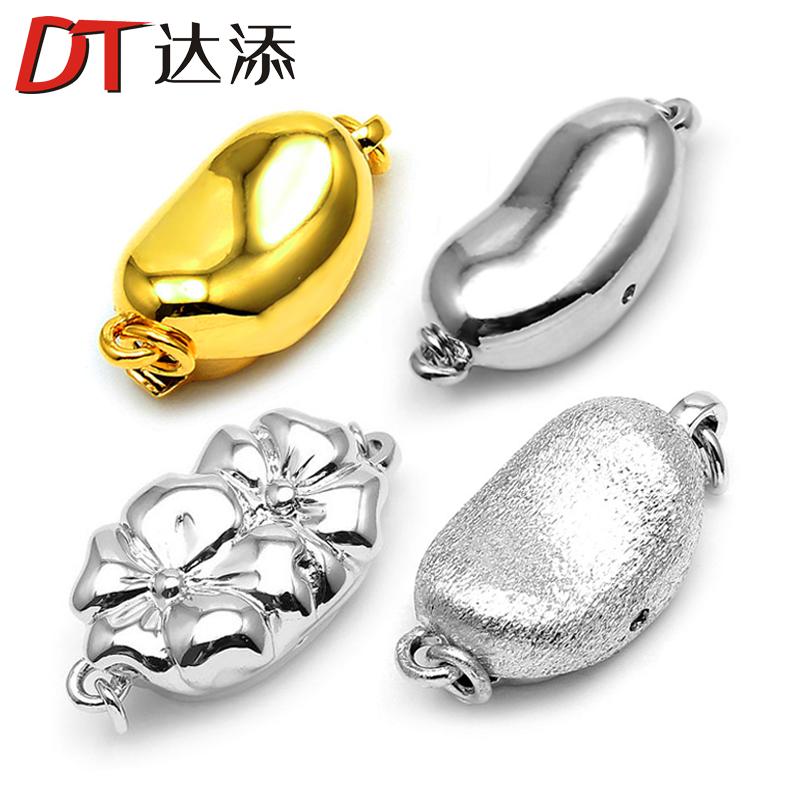 DT/ достигать добавлять жемчужное ожерелье пряжка вставить палка пряжка кнопку подключить глава застежка браслет кнопка diy монтаж обшивка 18k платина