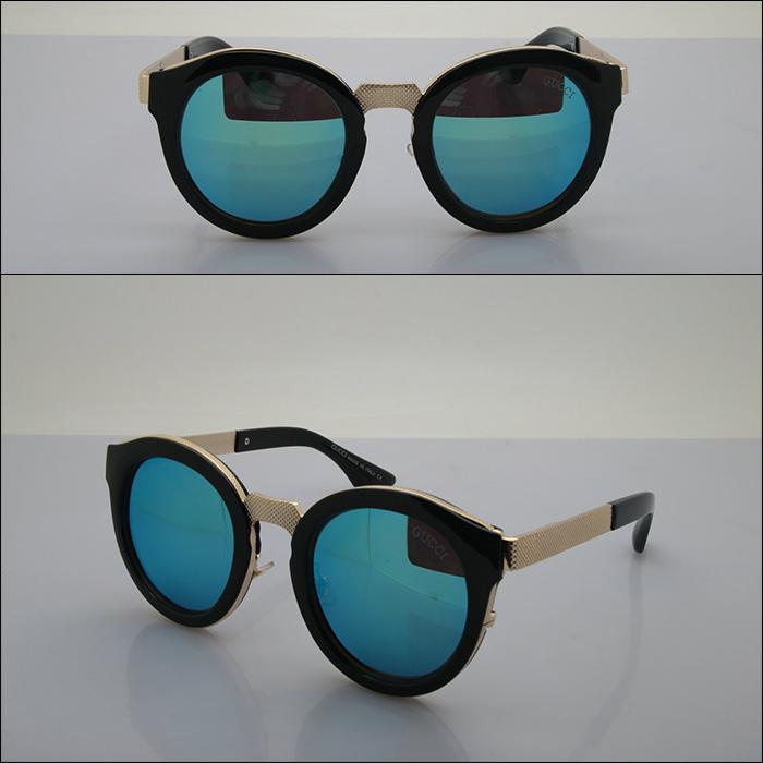 2016 премиум UV солнцезащитные очки для мужчин и женщин круг кадра солнцезащитные очки мода солнцезащитные очки 6162
