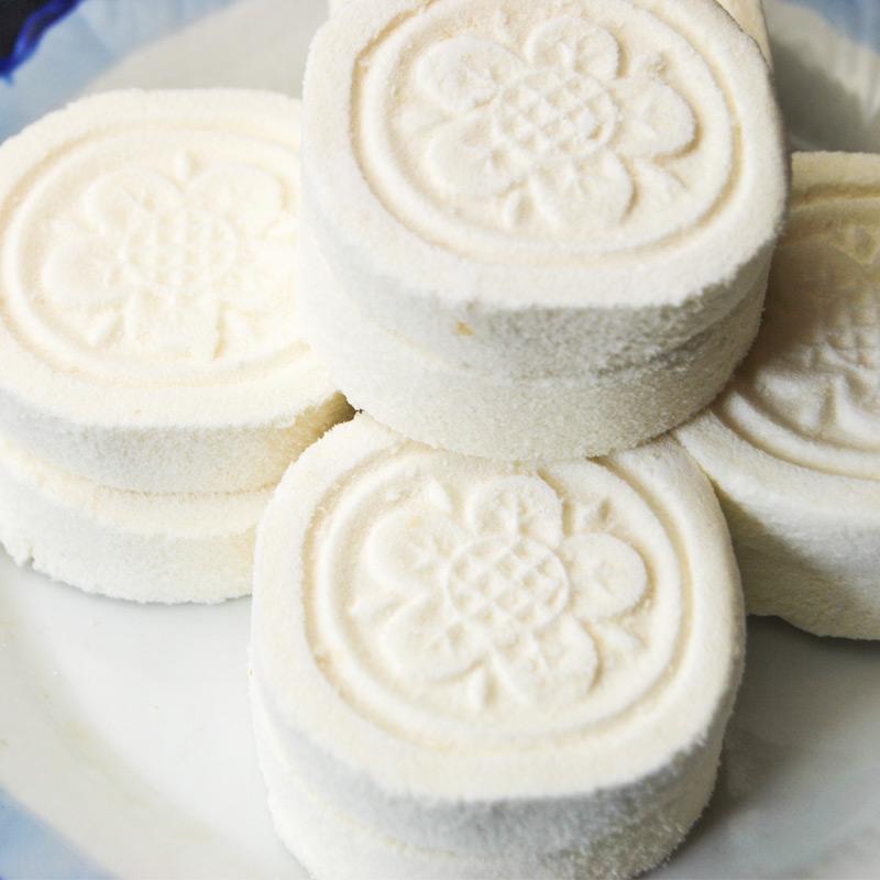 西溪糕团铺桂花糕圆形点心零食桂花饼桂花糕传统糕点杭州西溪特产
