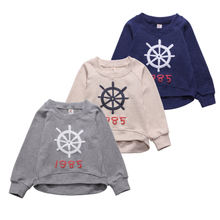Children's clothes the boy fall fleece 3 children cotton long sleeve T-shirt head 4 baby han edition stereoscopic printing coat five years old