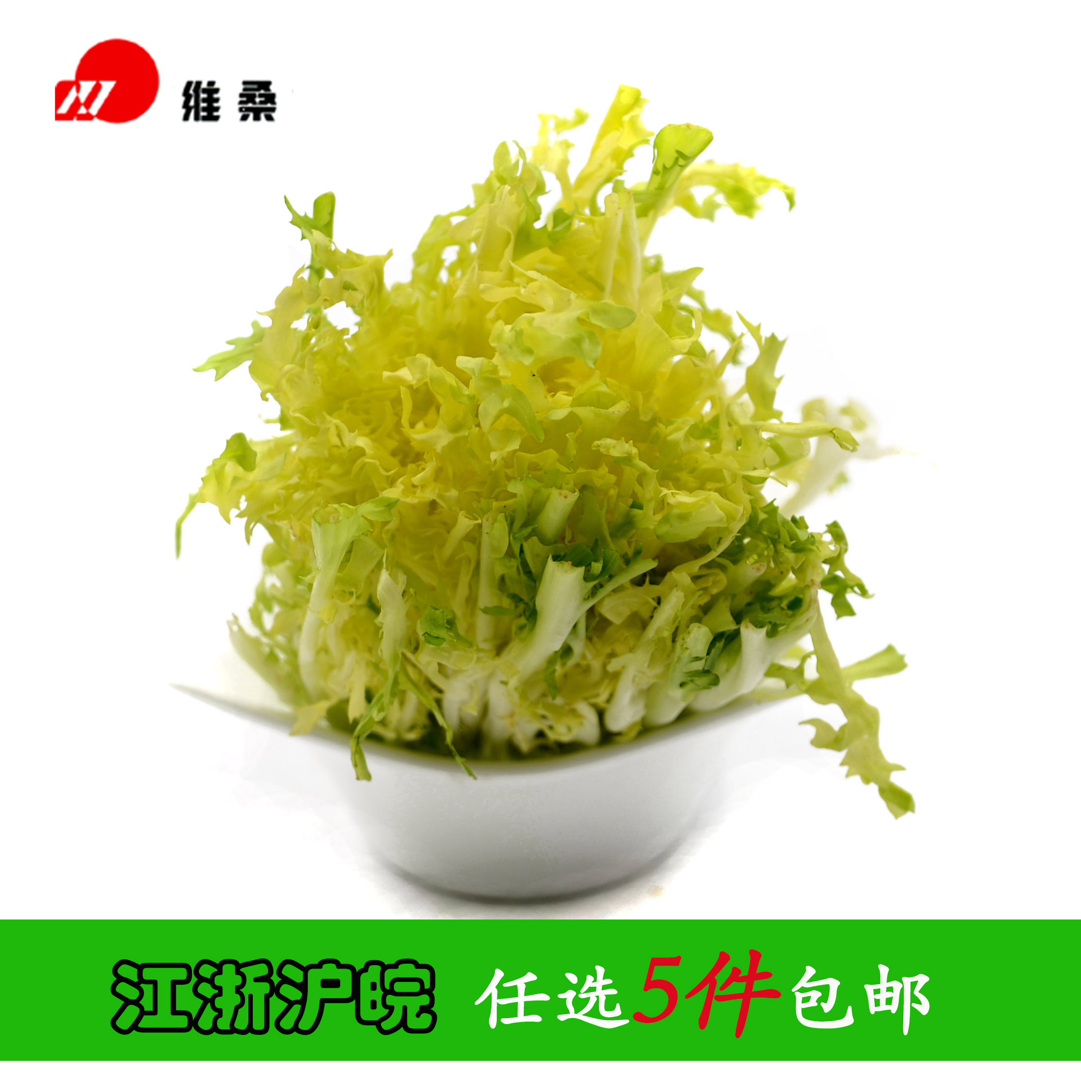 黄心苦苣 苦菊 苦叶500g 江浙沪皖任选5件包邮 时令新鲜蔬菜沙拉