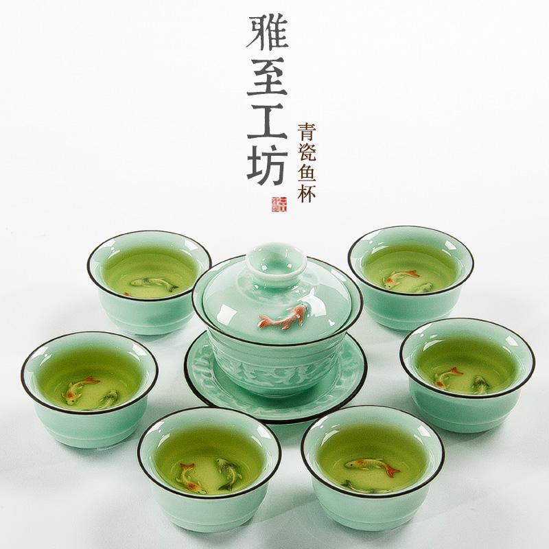 功夫茶杯茶具陶瓷品茗杯普洱品茶杯子個人白瓷杯主人單杯小茶碗