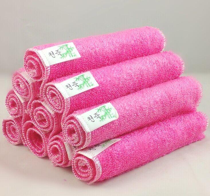 不沾油洗碗巾竹纤维抹布多功能洗巾超柔软擦手餐厅毛巾饭店清洁布