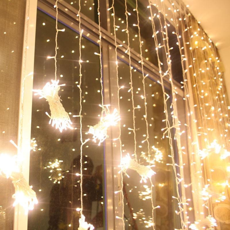 Лучшие продажи одежды магазин окна украшения свадьбы стадии украшения свет вспышки водонепроницаемый (6 м привело свет вода водопад света)