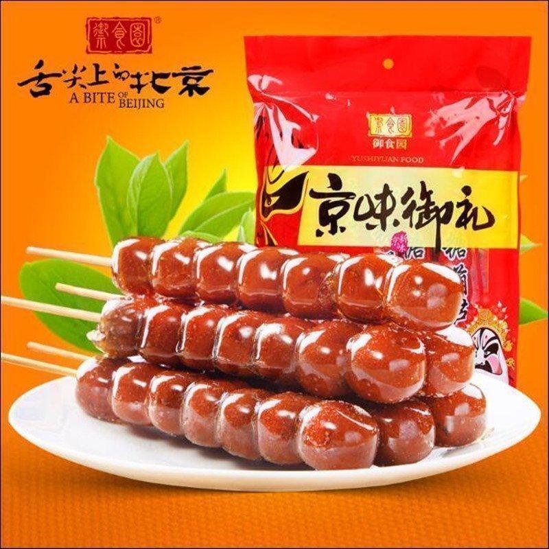 【御食�@冰糖葫�J70gx6根】老北京特�a休�e小吃山楂��k公室零食