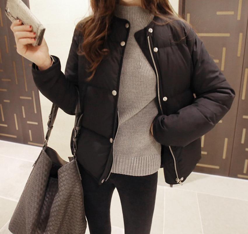 2015 году зимняя новой корейской версии пуховыми одеялами, хлопка женщин мягкие пальто короткие хлеб костюм Куртка Пальто студенток ЧАО