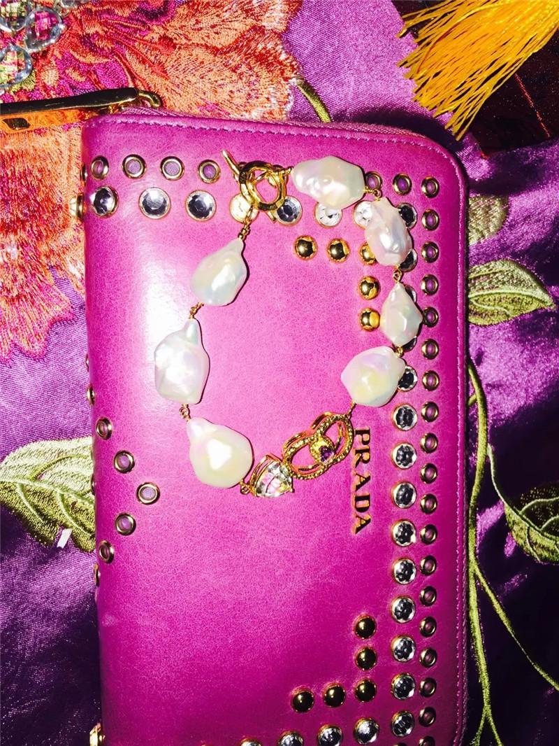 [37 degree goddess] gorgeous 925 sterling silver inlaid tourmaline olivine shaped pearl bracelet, beautiful!