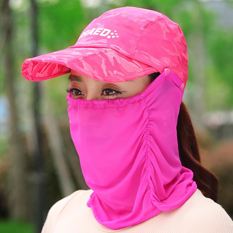 防曬帽子女士夏天騎電動車 遮陽帽 戶外防紫外線鴨舌太陽帽