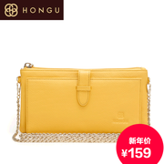 Honggu slung female header layer cowhide wallet red Valley NV skin hand bag small chain bag slung for 1394